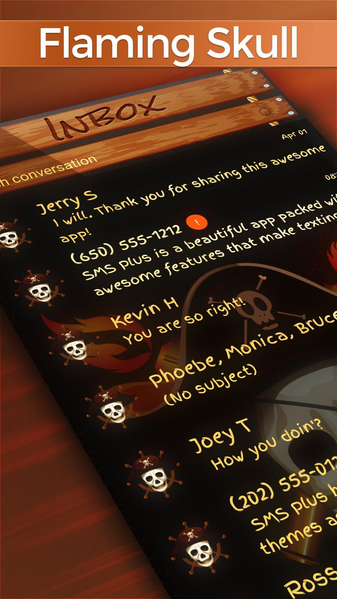 Flaming Skull SMS poster