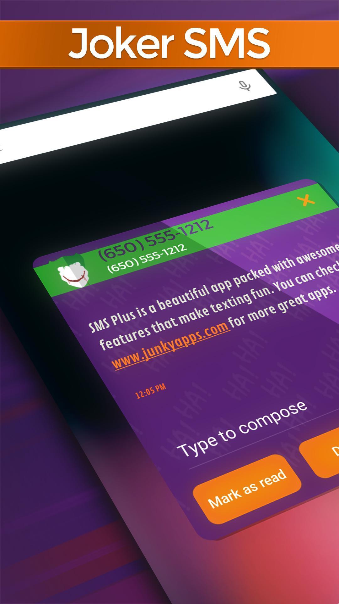 Joker SMS poster