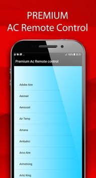 Premium Ac Remote Control screenshot 1