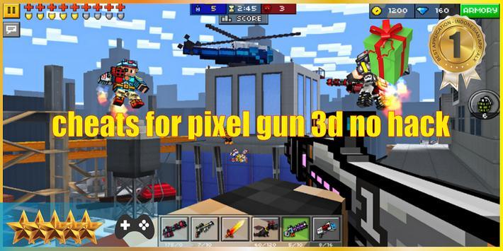 Cheats For Pixel Gun 3D No Hack poster