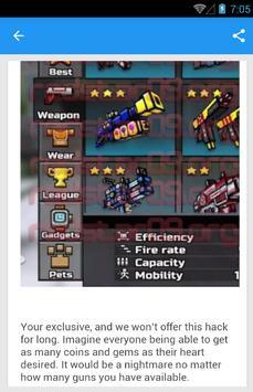 Cheats For Pixel Gun 3D No Hack screenshot 4