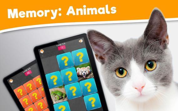 Memory do Jogo: Animais apk imagem de tela