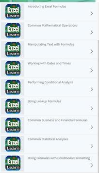 Learn Excel Formulas poster
