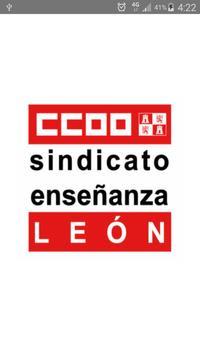 CCOO enseñanza León poster