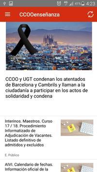 CCOO enseñanza León screenshot 1
