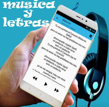 Maluma - GPS (letra) ft. French Montana musica apk screenshot