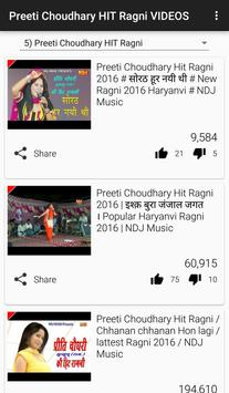 Preeti Choudhary Ragni HIT VIDEO Song apk screenshot