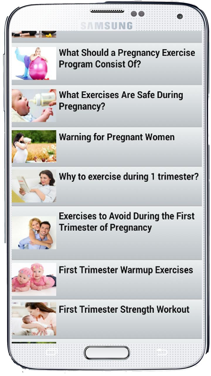 Workout Pregnancy - Exercises for Android - APK Download