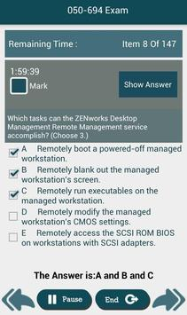 PL 050-694 Novell,Inc Exam screenshot 9