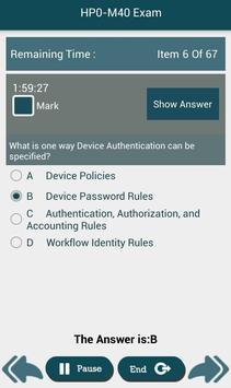 PL HP0-M40 HP Exam apk screenshot