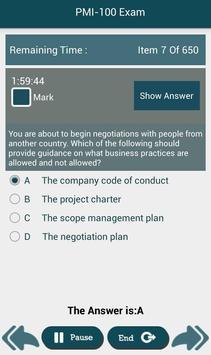 PL PMI-100 PMI Exam apk screenshot