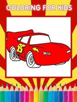 Coloring Game for SuperCars 3 screenshot 1