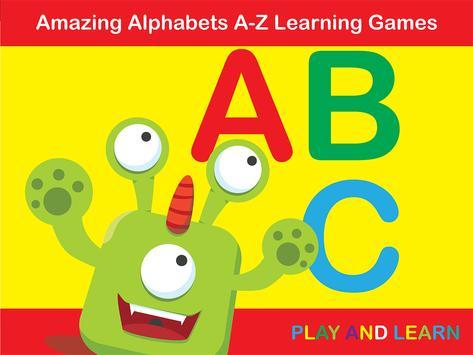 ABC Monster - Phonics Alphabet poster