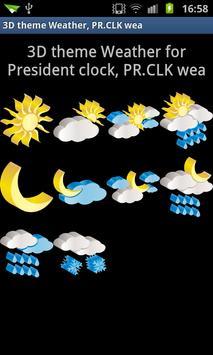 3D theme Weather, PR.CLK wea poster