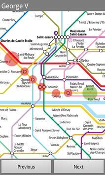 Metro Paris Subway poster