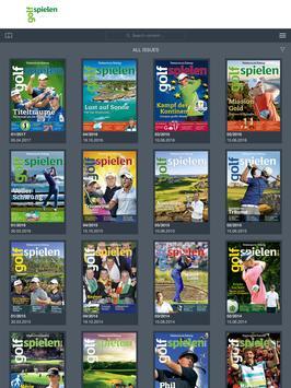 golf spielen poster