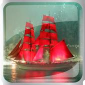 Ships at sea icon