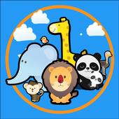 Pretty zoo for kids icon