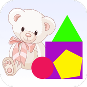 Shape matching for kids icon