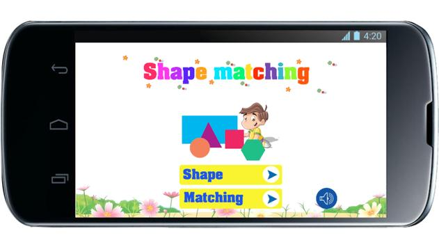 Shape matching for kids poster