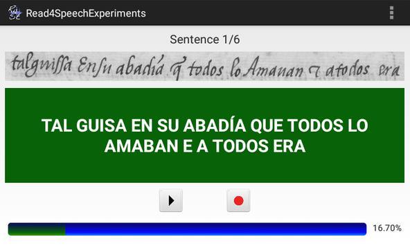 Read4SpeechExperiments apk screenshot