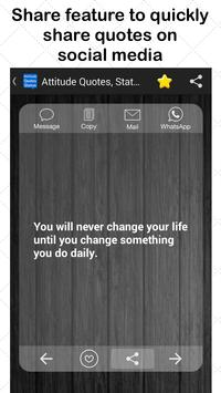 Attitude Quotes,Status message apk screenshot