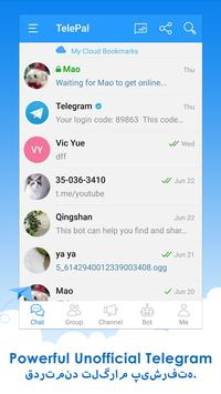 Telepal for Telegram Messenger poster