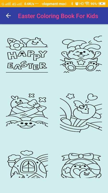 Easter Coloring Book For Kids Poster