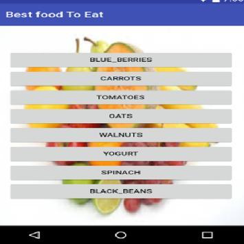 Best Food To Eat apk screenshot