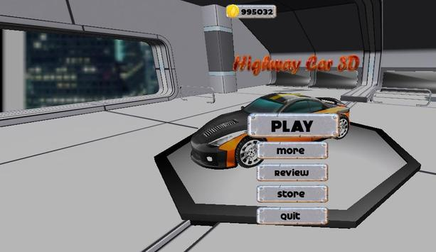 Highway Car 3D poster