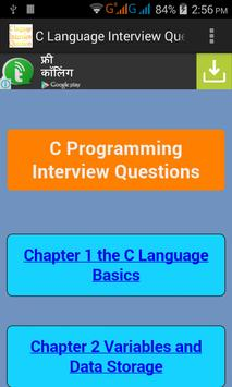 C Language Interview Questions poster
