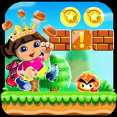dora adventure princess  run icon