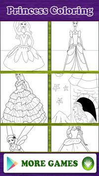Princess Coloring Book Game poster