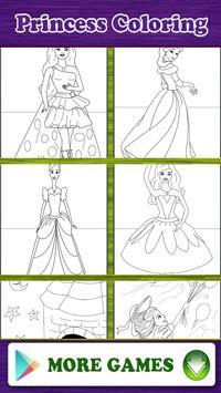 Princess Coloring Book Game apk screenshot