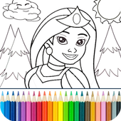 Princess Coloring Game icon