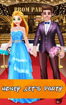 high school queen love story dress up game poster