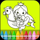 Ariel Coloring Games icon