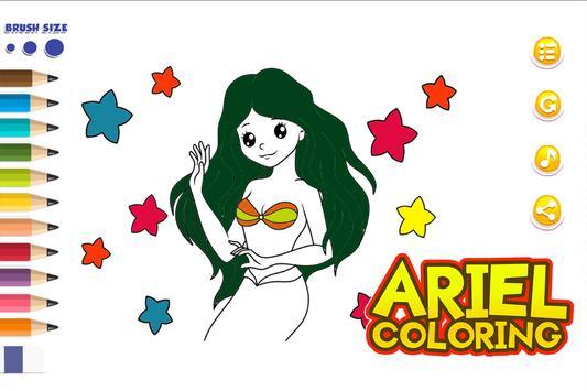 Ariel Coloring Games screenshot 3