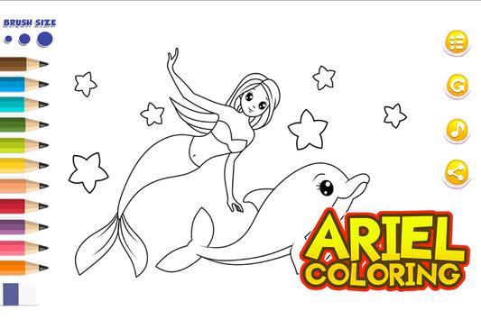 Ariel Coloring Games screenshot 4