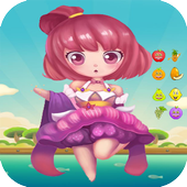 Princess Bubble Fruits Shooter icon