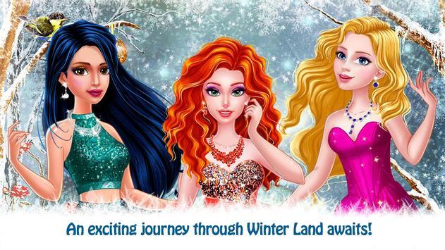 Princess Winter Holiday Diary poster