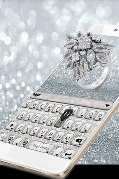 Princess Silver Crown Glitters Keyboard Theme screenshot 1