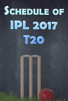 Schedule of IPL 2017 T20 poster