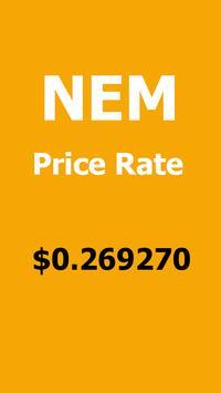 NEM - XEM Crypto price poster