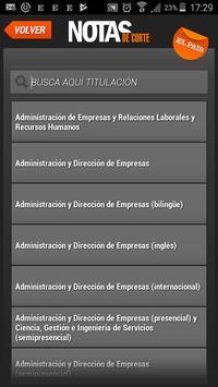 Notas de Corte apk screenshot
