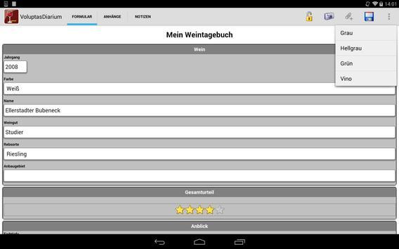 Voluptas Diarium–Weintagebuch screenshot 14