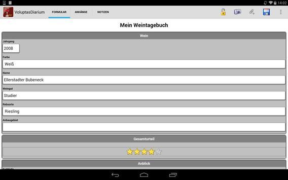 Voluptas Diarium–Weintagebuch screenshot 15