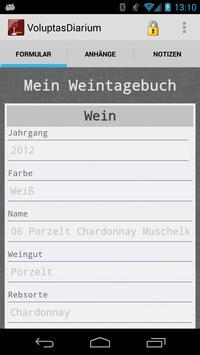 Voluptas Diarium–Weintagebuch screenshot 1