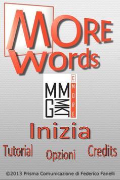 MORE Words Italia poster