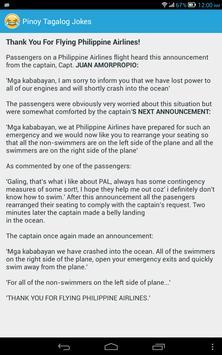 Pinoy Tagalog Jokes imagem de tela 8